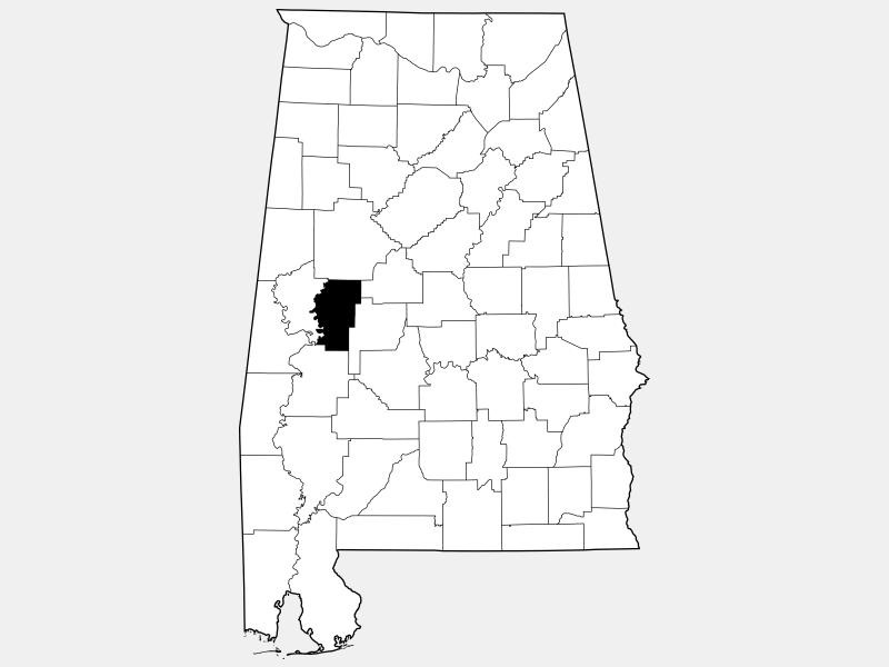 Hale County location map