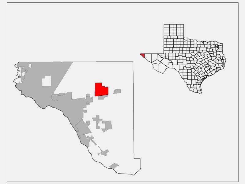 Homestead Meadows North locator map