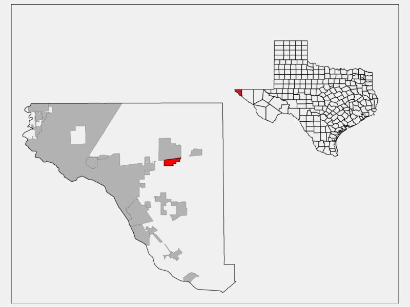 Homestead Meadows South locator map