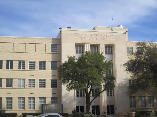 Howard County  TX  Courthouse  Big Spring  TX IMG 1443 image