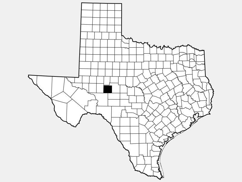 Irion County locator map