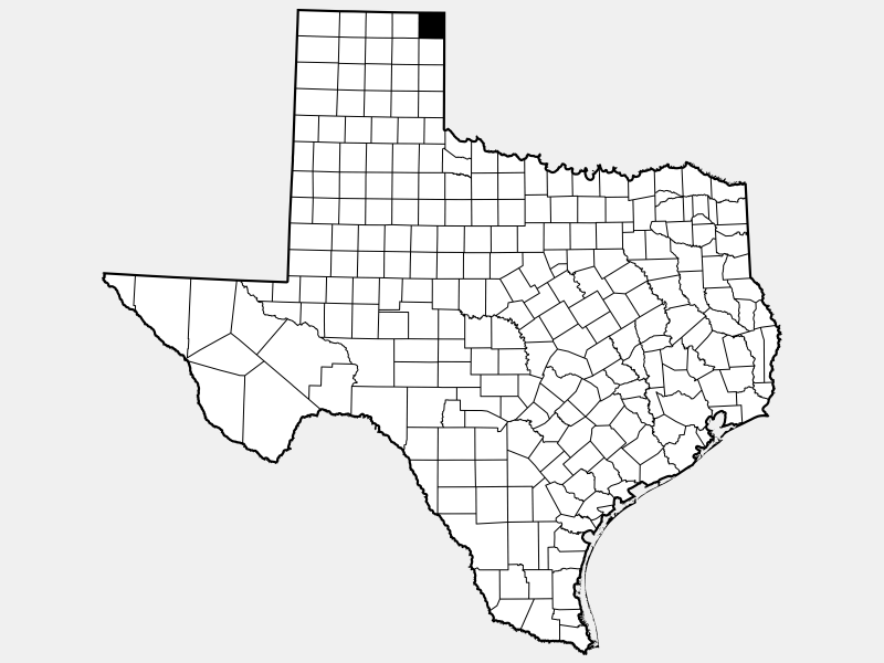 Lipscomb County locator map