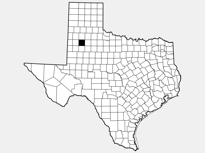 Lubbock County locator map