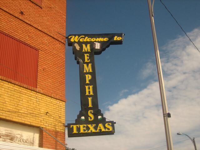 Memphis  TX  sign IMG 0675 image