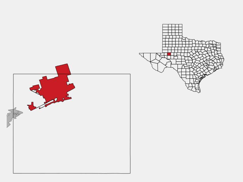 Midland, TX locator map