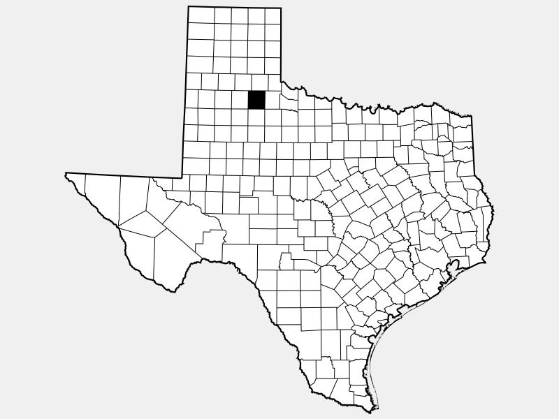 Motley County locator map