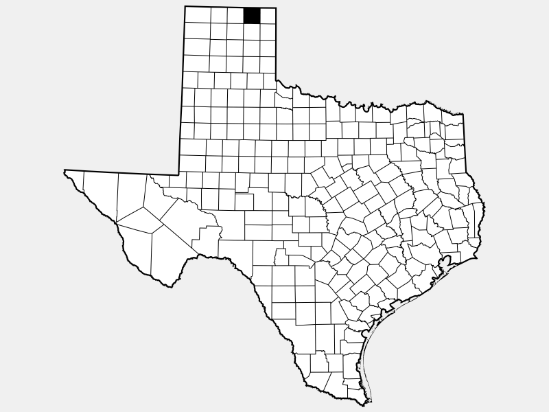 Ochiltree County locator map