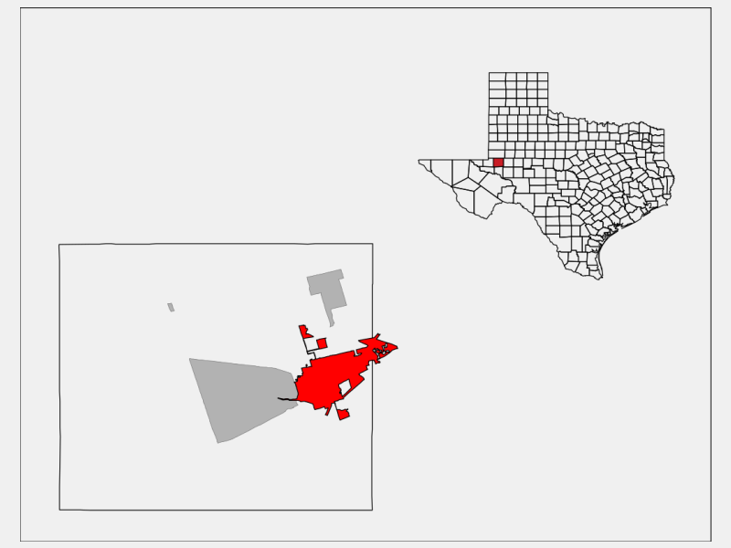 Odessa location map