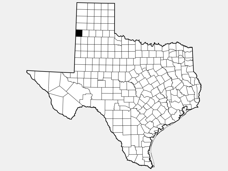Parmer County locator map