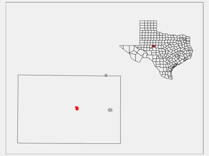 Robert Lee location map