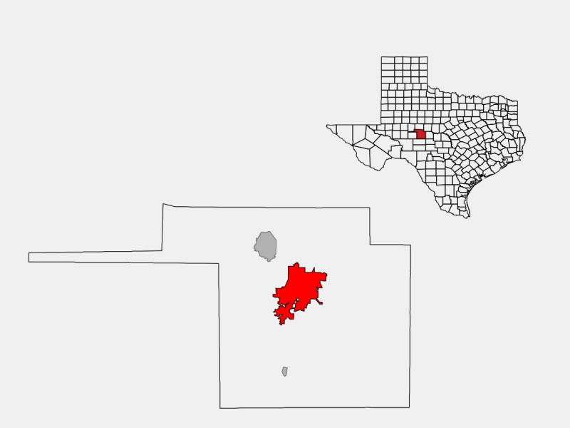San Angelo locator map
