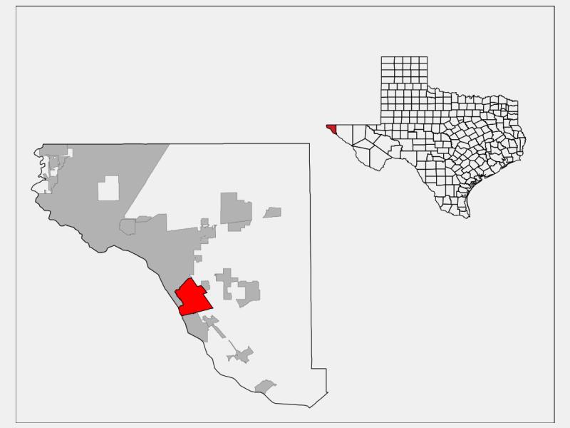 Socorro, TX locator map