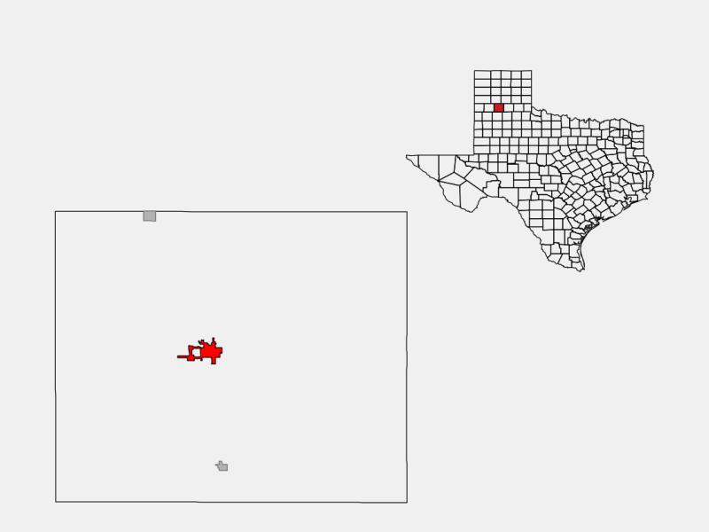 Tulia, TX locator map