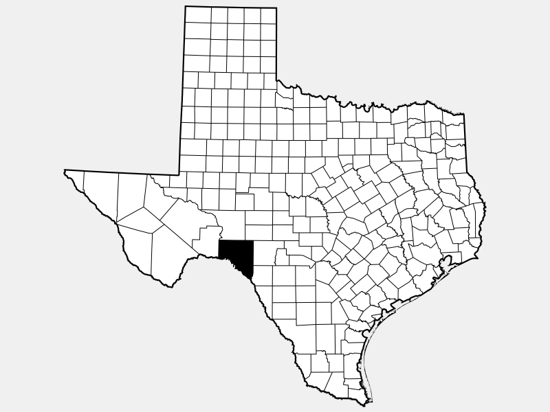 Val Verde County, TX locator map