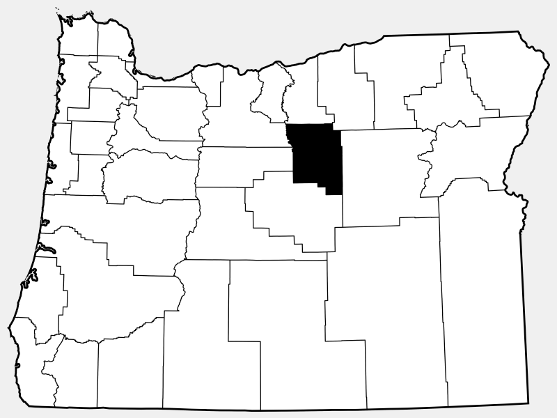 Wheeler County locator map