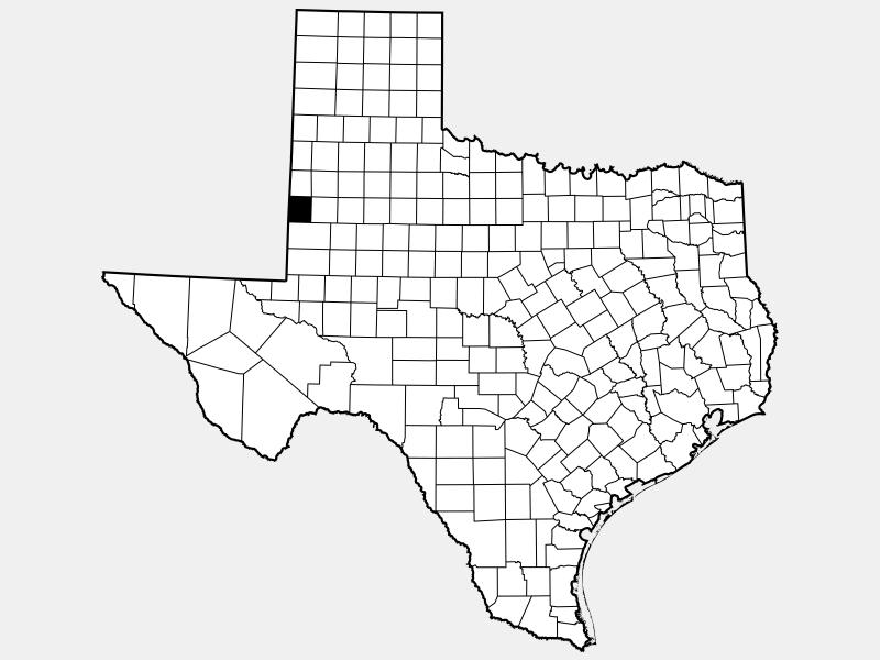 Yoakum County locator map