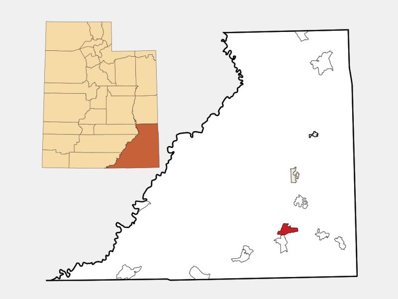 Bluff location map
