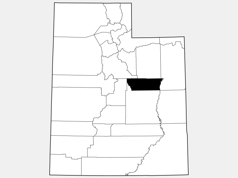 Carbon County locator map