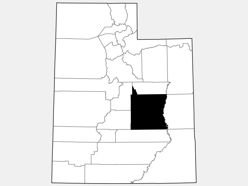 Emery County locator map