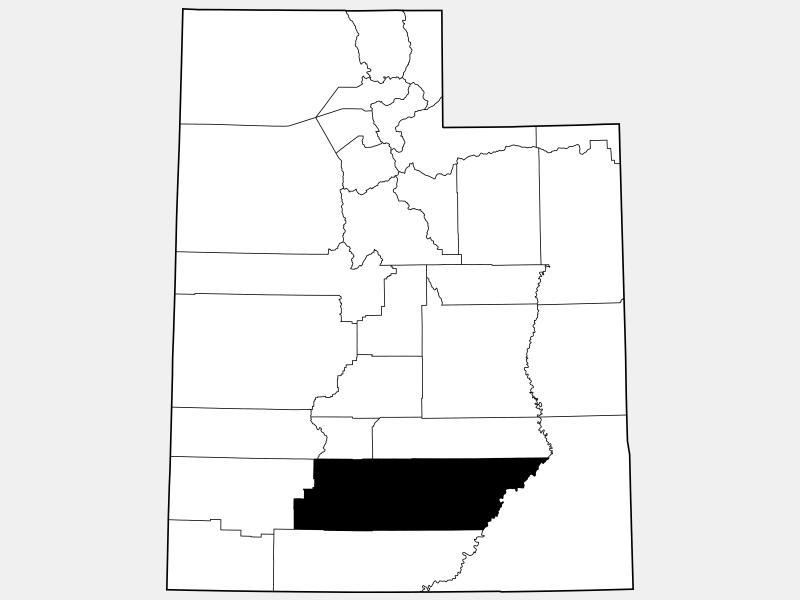 Garfield County locator map