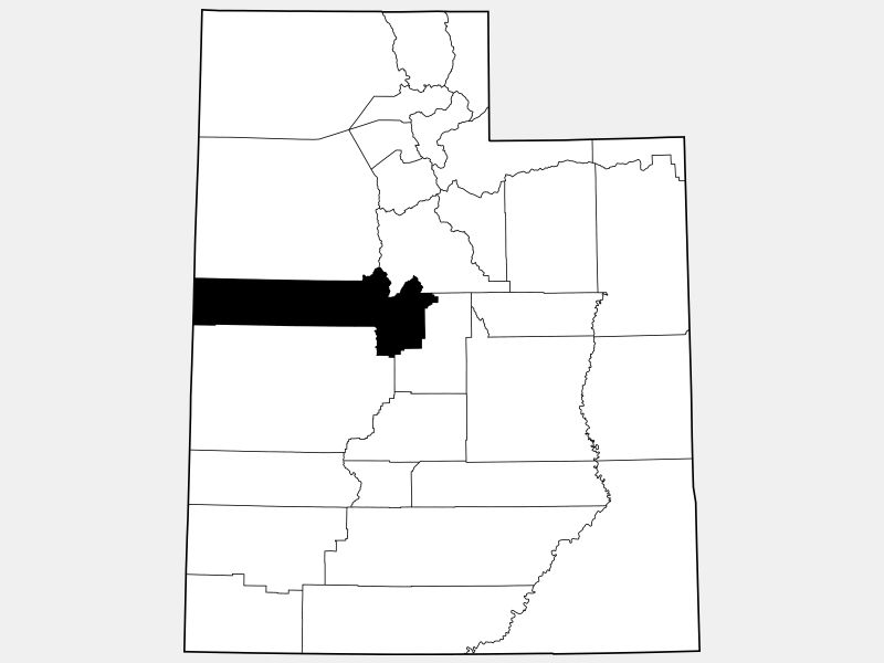 Juab County locator map