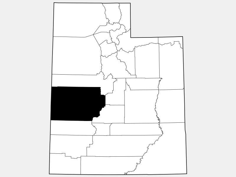 Millard County locator map