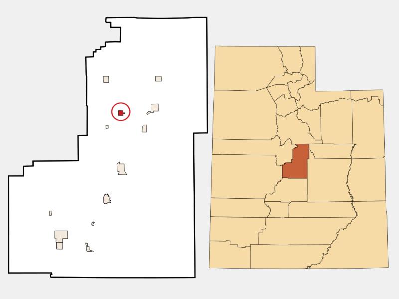 Moroni locator map