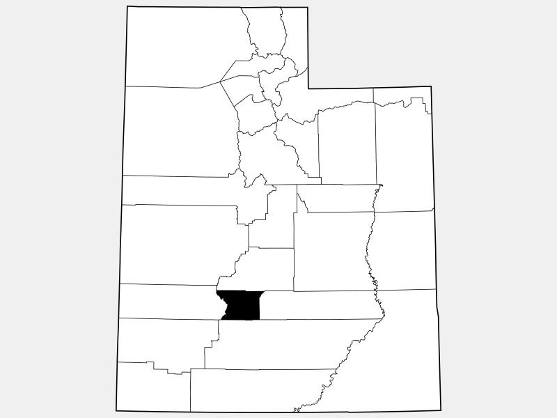 Piute County locator map