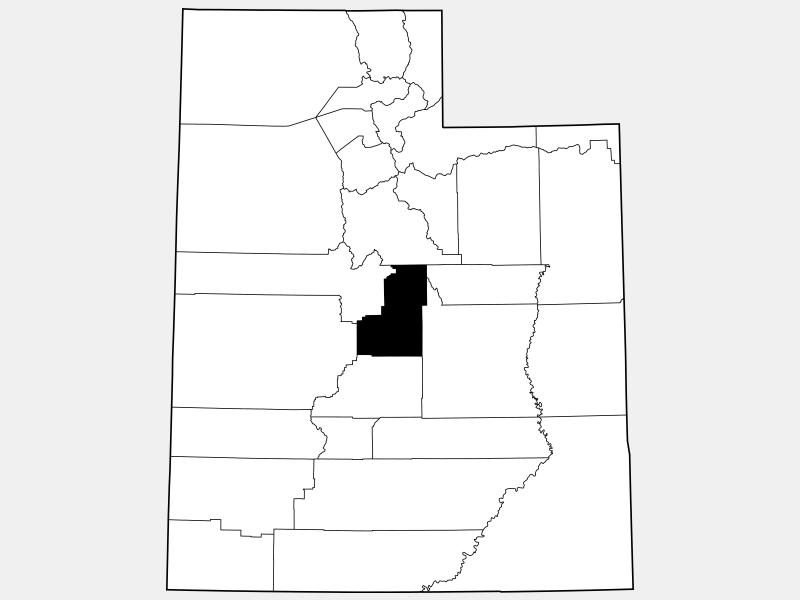 Sanpete County locator map