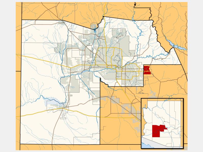 Apache Junction locator map