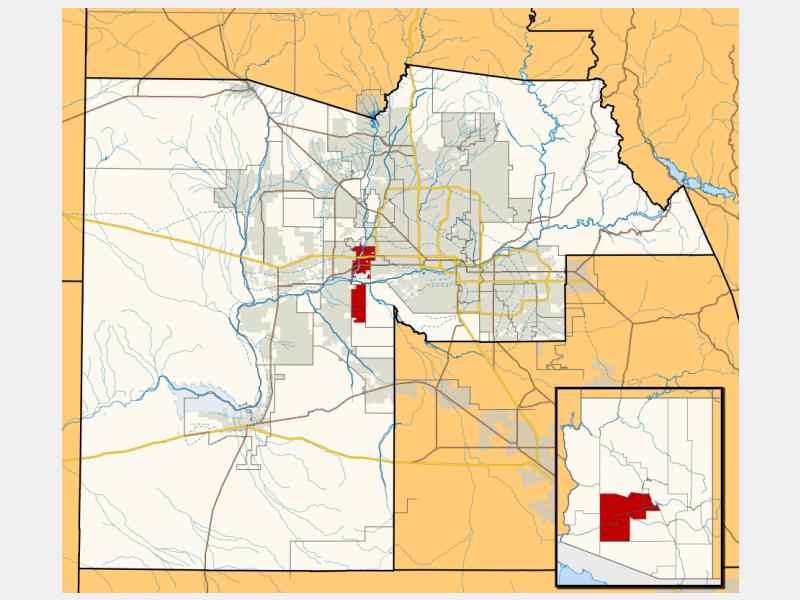 Avondale locator map