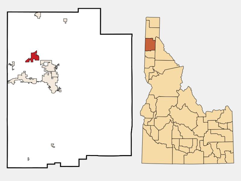 Rathdrum locator map