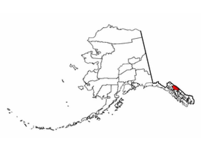 Juneau City and Borough locator map