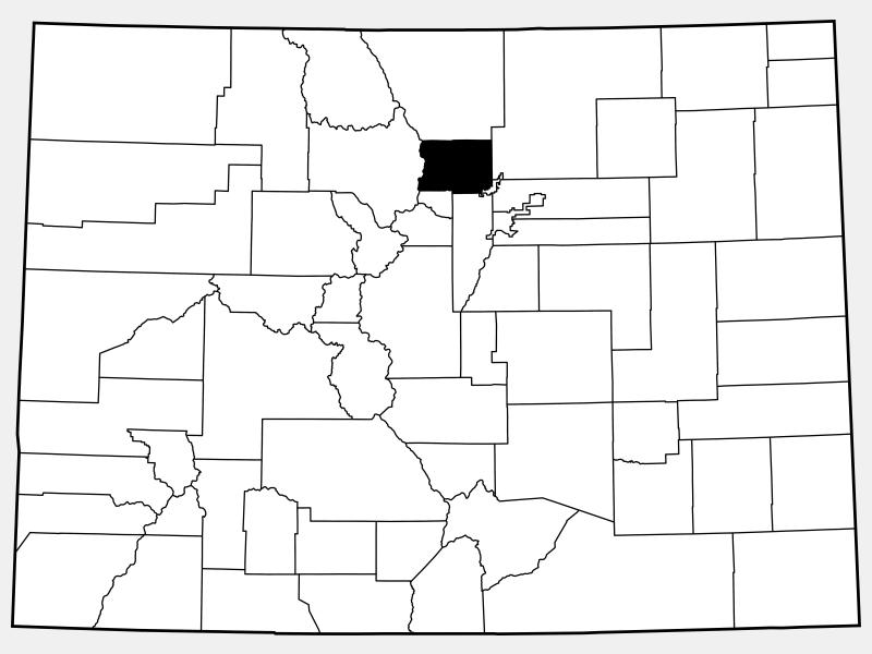 Boulder County locator map