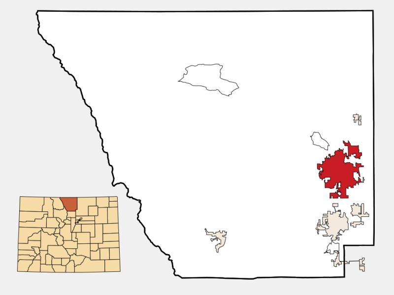 Fort Collins locator map