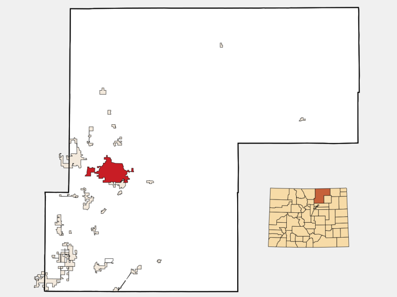 Greeley locator map