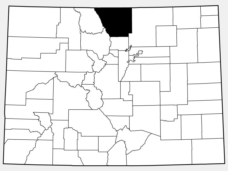 Larimer County locator map