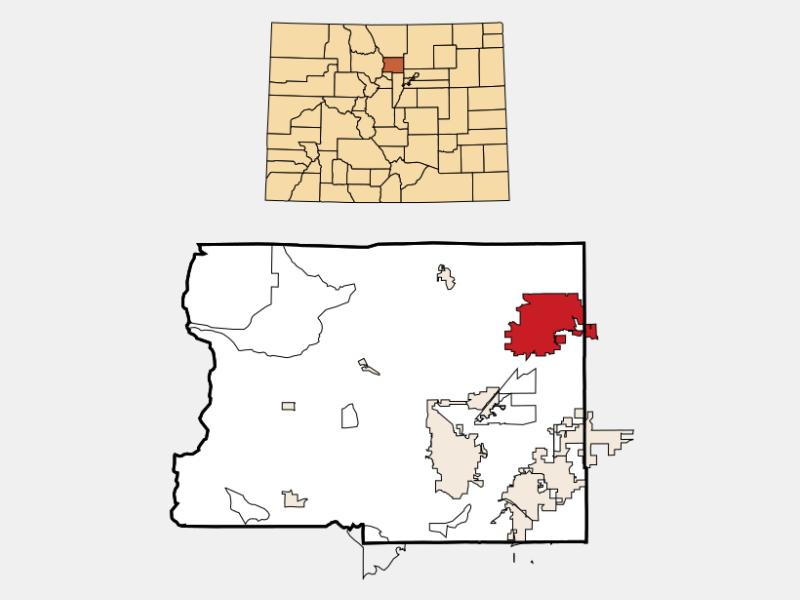 Longmont locator map