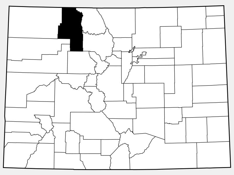 Routt County locator map
