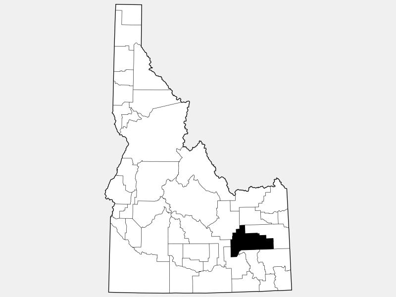 Bingham County locator map