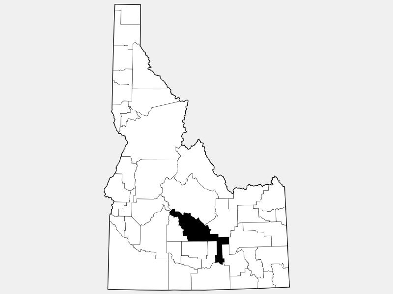 Blaine County locator map