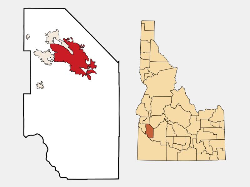 Boise locator map