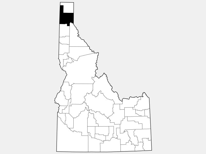 Bonner County locator map