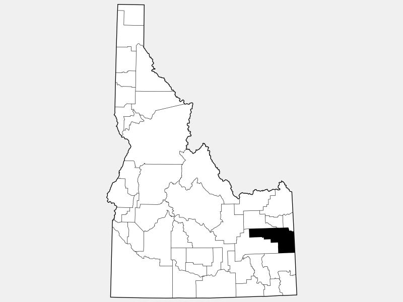 Bonneville County locator map