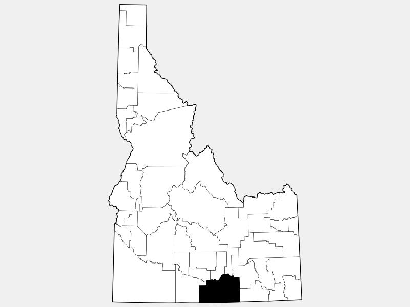 Cassia County locator map