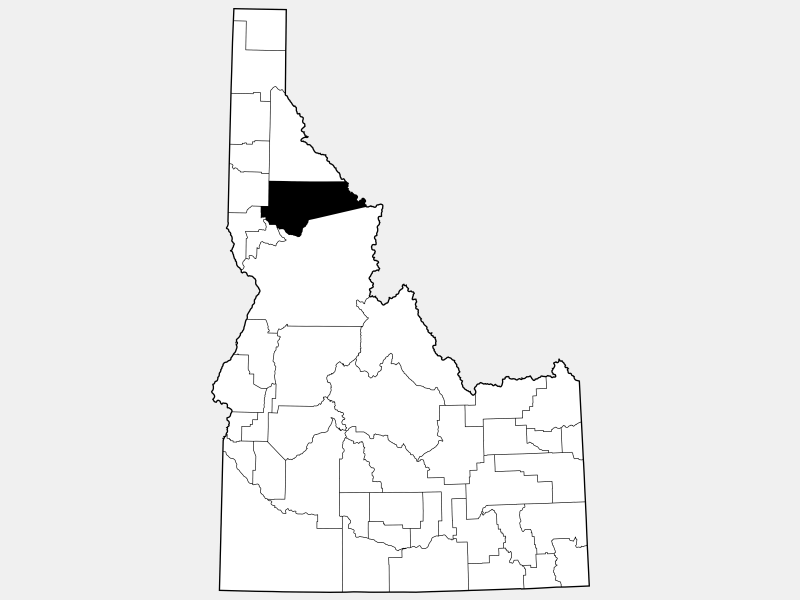 Clearwater County locator map