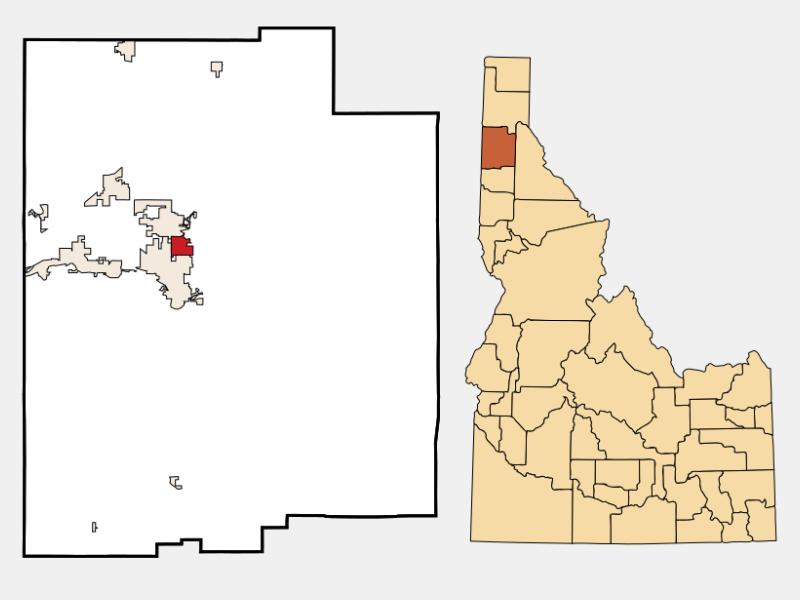 Dalton Gardens locator map