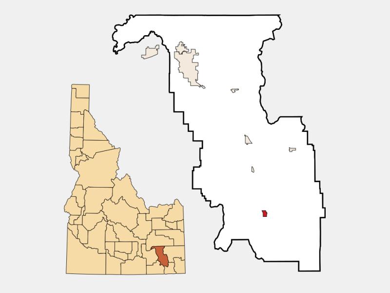 Downey locator map