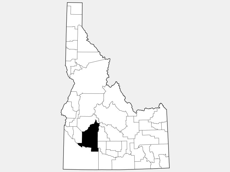Elmore County locator map