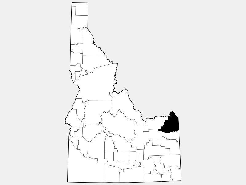 Fremont County locator map